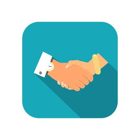 business person: Business person handshake icon illustration Illustration