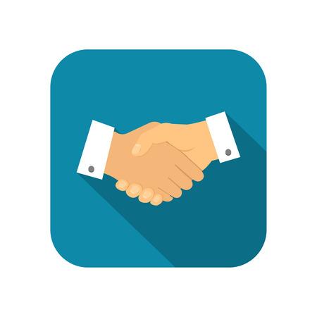 shake hand: Businessman handshake icon illustration Illustration