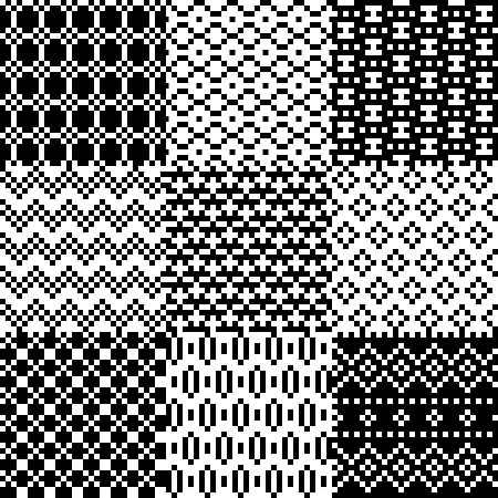 Seamless pixel patterns set illustration Vector