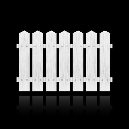 White fence tile isolated illustration