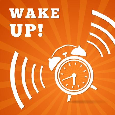 waking: Wake up alarm illustration