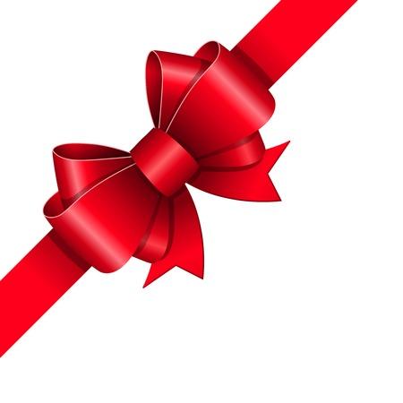 Rode strik gift design element illustratie