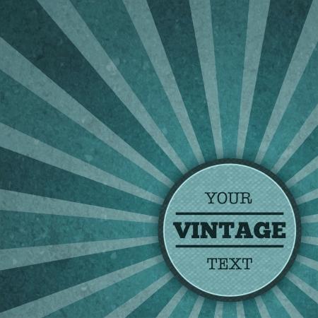 advertisement: Vintage Sunburst Werbung Vorlage Vektor-Illustration