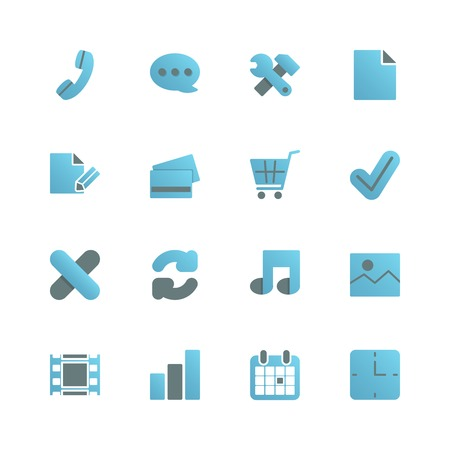 Ecommerce iconset for web store design, gradient with shadow isolated vector illustration Vector