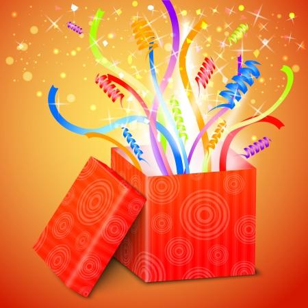 treasure box: Open gift box vector illustration