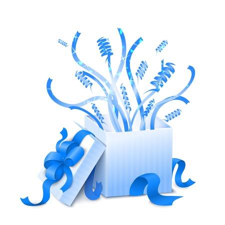 present box: Holiday present box vector illustration