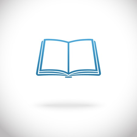 text books: Open book icon vector illustration