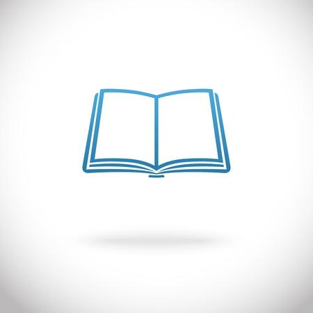 digital book: Open book icon vector illustration