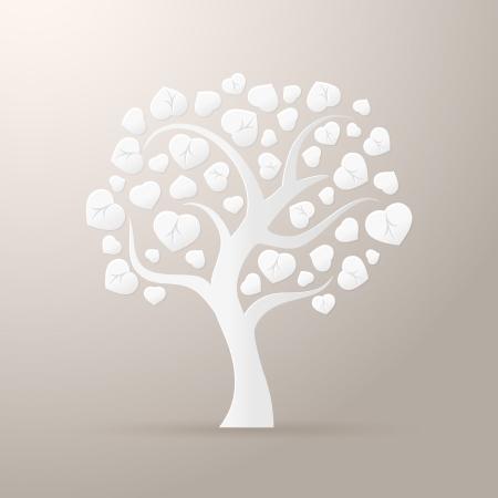 Arbre de papier icône illustration vectorielle isolé Banque d'images - 24474343