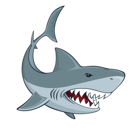 Shark segno isolato illustrazione vettoriale