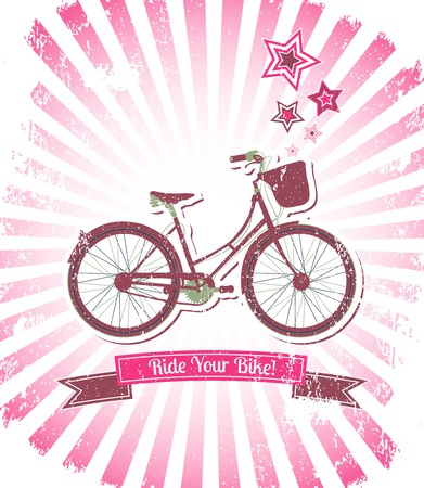 Ride your bike banner vector illustration Vector