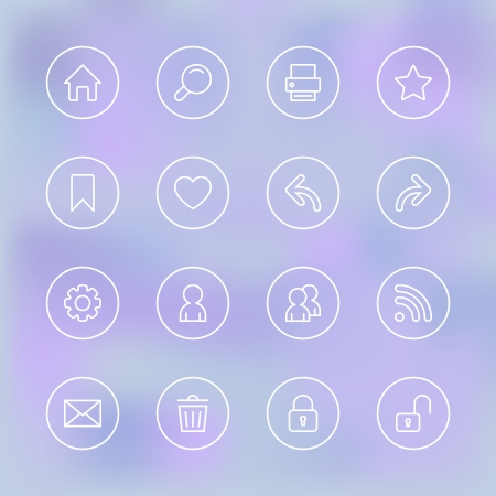 feed back: Set of icons for mobile app UI, transparent clear isolated vector illustration Illustration
