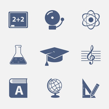 Interface elements for education website isolated vector illustration Vector