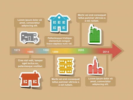 Infographic timeline elements vector illustration