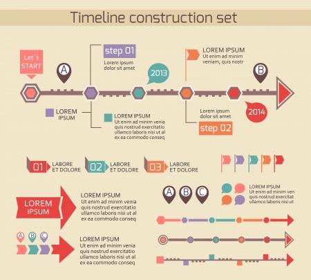timeline: Presentation timeline chart elements illustration
