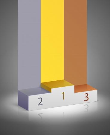 Sport Gewinner-Podium, um die Auszeichnung zu präsentieren Vektor-Illustration