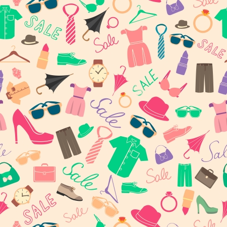 brassiere: Fashion and clothes accessories seamless pattern vector illustration
