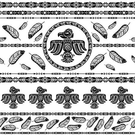 Indiano pattern di sfondo tribale illustrazione vettoriale Vettoriali