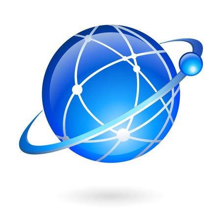 Collegamento e la tecnologia di navigazione globale concetto di illustrazione vettoriale isolato