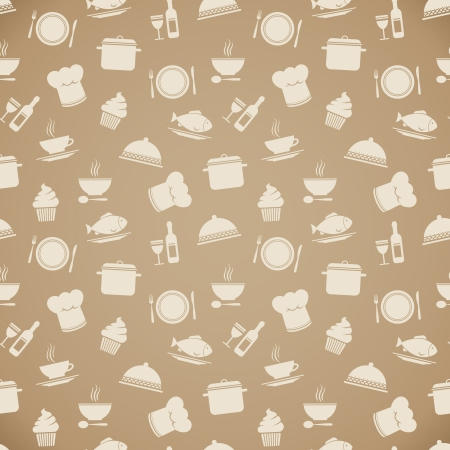 Seamless restaurant menu pattern background vector illustration Vector
