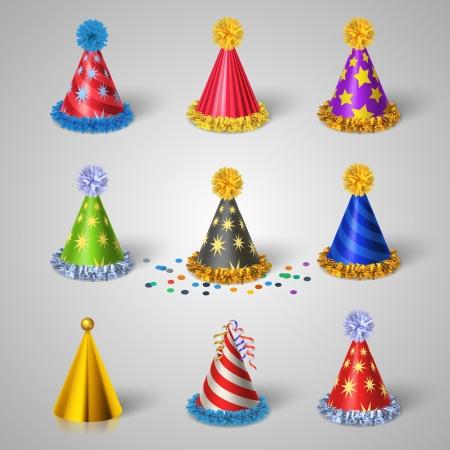 Iconos sombrero Partes que se estipulan ilustración Foto de archivo - 24965004