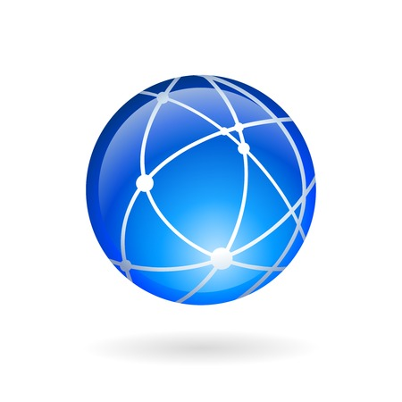 Global technology or social network icon isolated  illustration Vector