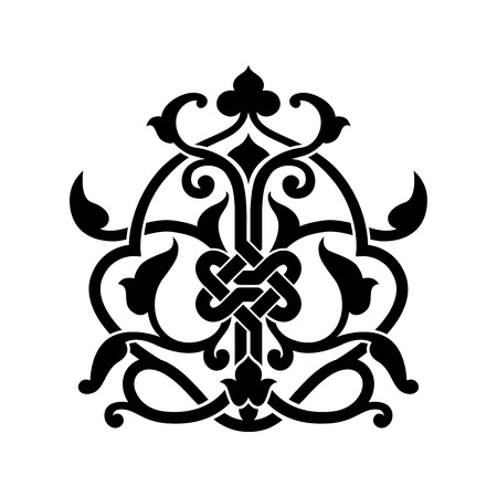 muslim pattern: Abstract arabic symbol for tattoo isolated illustration