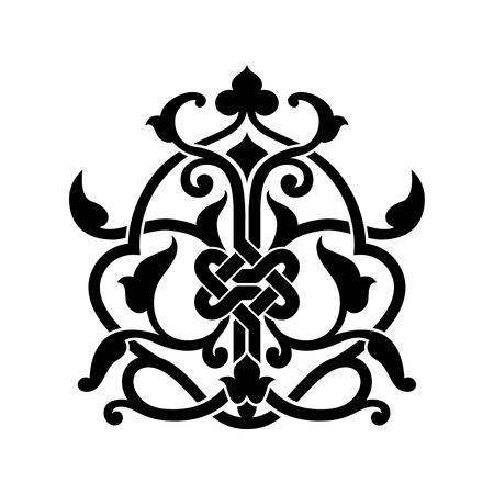 Abstract arabisch symbool voor tattoo geïsoleerde illustratie