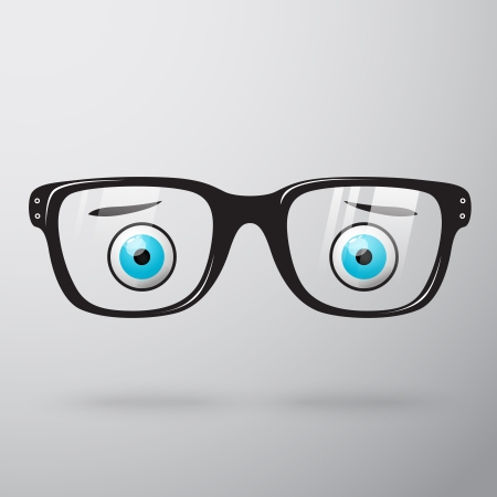 Worried glasses with eyes icon isolated vector illustration Vector
