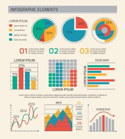 graph: Gesch�ftsdiagramme Vorlage Layout, Diagramme und Grafiken isolierten Vektor-Illustration