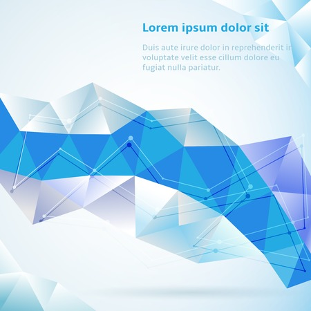 blue network: Blue abstract geometric triangles illustration