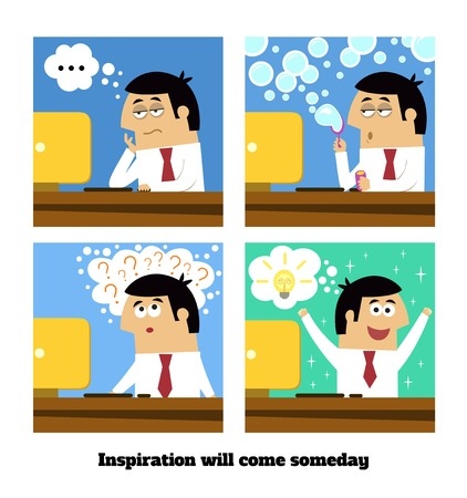 Business life. Inspiration or creative idea will come vector illustration Vector
