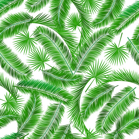 Tropical palm tree seamless pattern template vector illustration Vector
