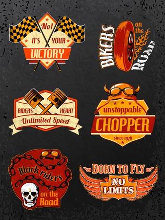 Moto badges de vélo mis Banque d'images - 26151979