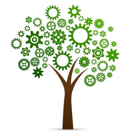 Industrielle Innovation Konzept Baum von Zahnräder und Getriebe hergestellt Standard-Bild - 26150441