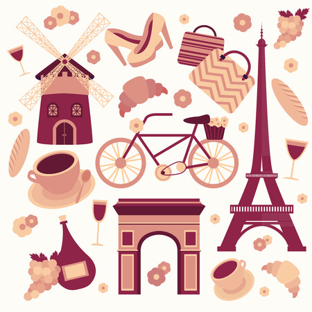 Paris symbols collection  Vector