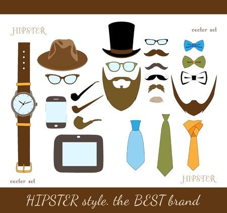 accessoire: Hipster accessoire pictogrammen instellen
