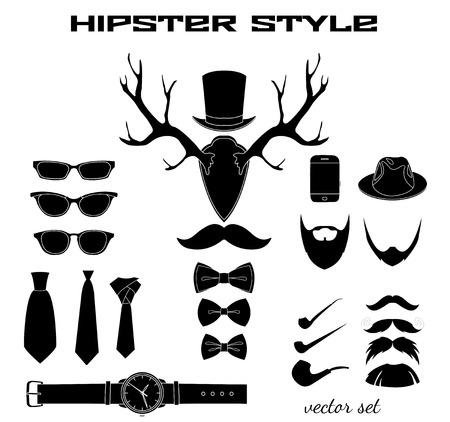 accessoire: Hipster accessoire collectie Stock Illustratie