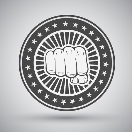 fist fight: Clenched fist icon illustration