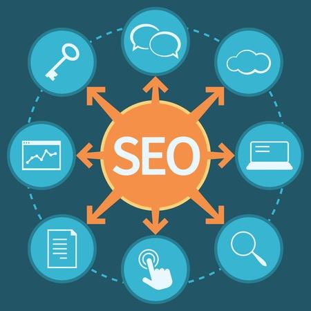smm: SEO marketing concept isolated illustration