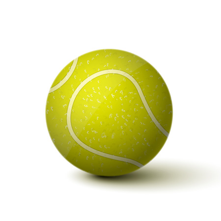 Realistic tennis ball icon isolated illustration Vector