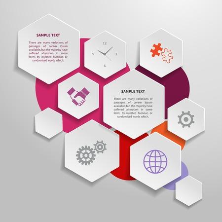 Abstracte document zakelijke infographics design elementen Stock Illustratie
