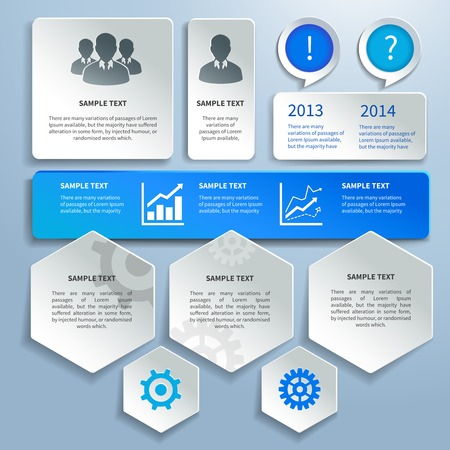 infomation: Abstract paper business infographics design elements for presentation report vector illustration