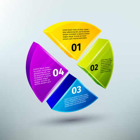 graficas de pastel: Infografías negocios Elementos abstractos del diseño para gráficos circulares opciones y la ilustración vectorial elección Vectores