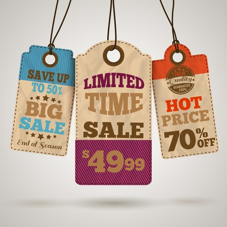limited time: Cardboard sale limited time hot price promotion tags template
