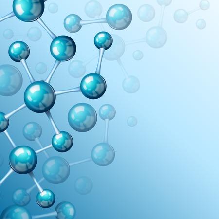 3d atomic structure molecule model grid over blue background wallpaper Stock Vector - 27139577