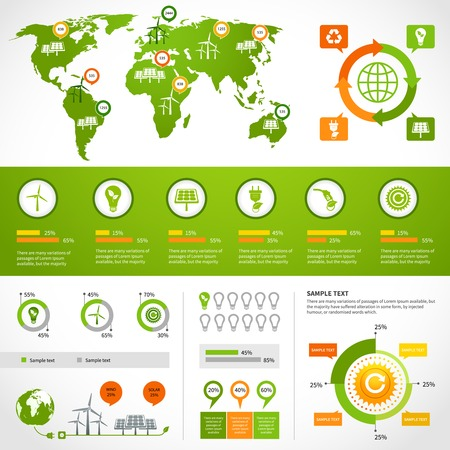 droughts: Energy infographics layout design template with eco icons set world map charts and graphs