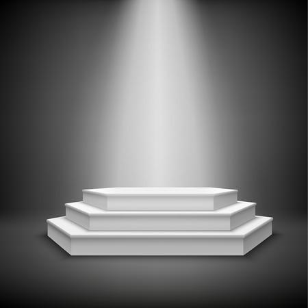 awards ceremony: Illuminated stage podium for award ceremony show  Illustration