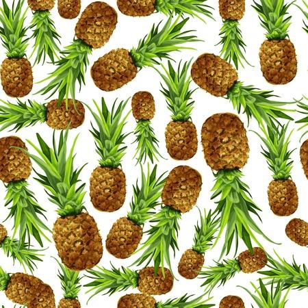 pineapples: Seamless natural organic sweet pineapple pattern