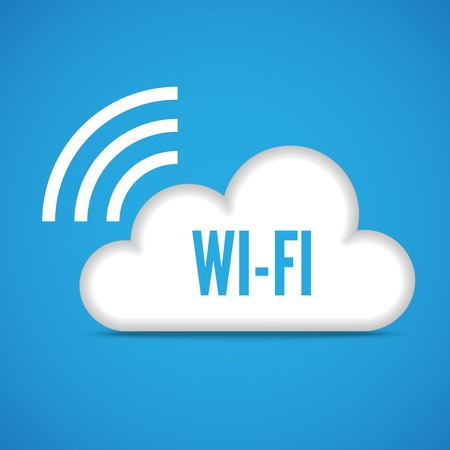 wireless cloud computing concept emblem icon isolated  Vector